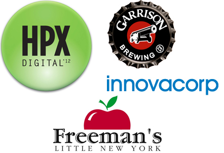 Innovacorp, Halifax Pop Explosion, Freeman's Little New York and Garrison Brewing are sponsoring our Hackathon.